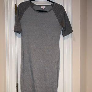 Grey lularoe midi dress
